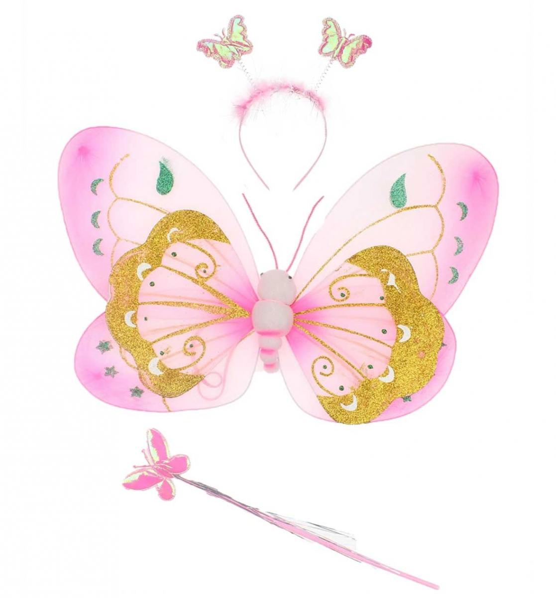23 Nisan Kız Çocuk Kelebek Kanat Seti 037-226001-021