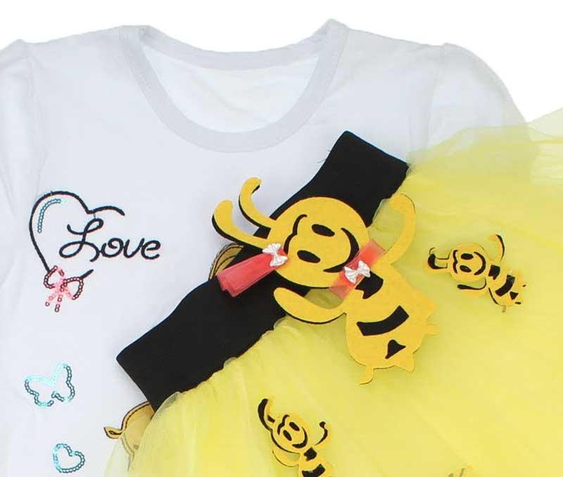 23 Nisan Kız Çocuk Tütü Etekli 3 lü Takım 037-23M06-001
