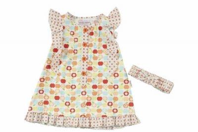 andywawa kız çocuk bandanalı elbise (1 yaş-6 yaş) 00825204005