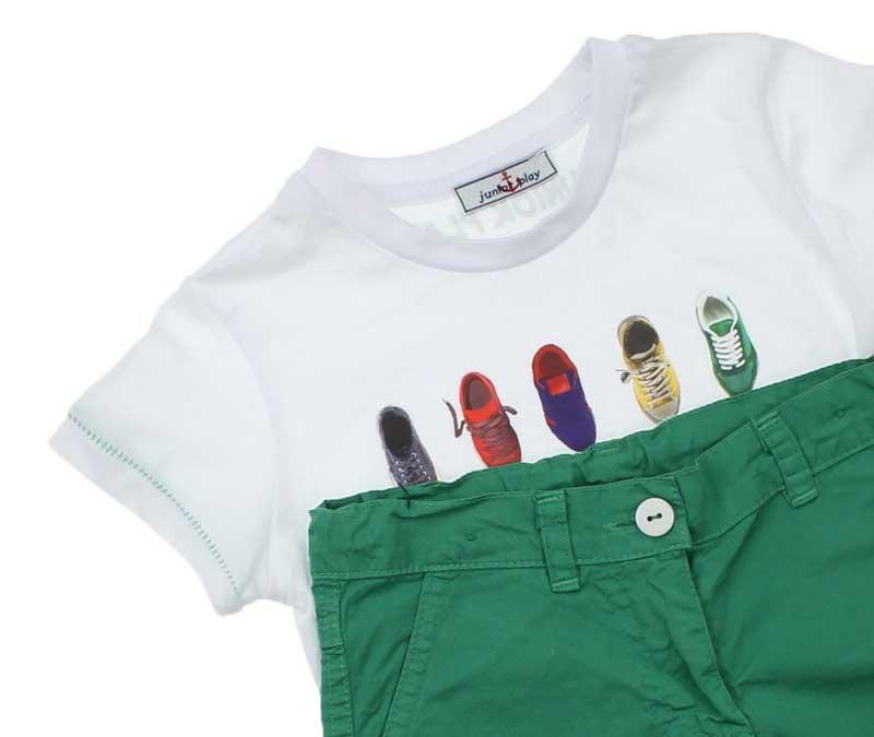 Bambaki Erkek Çocuk Baskılı Şortlu Takım 013-100-027