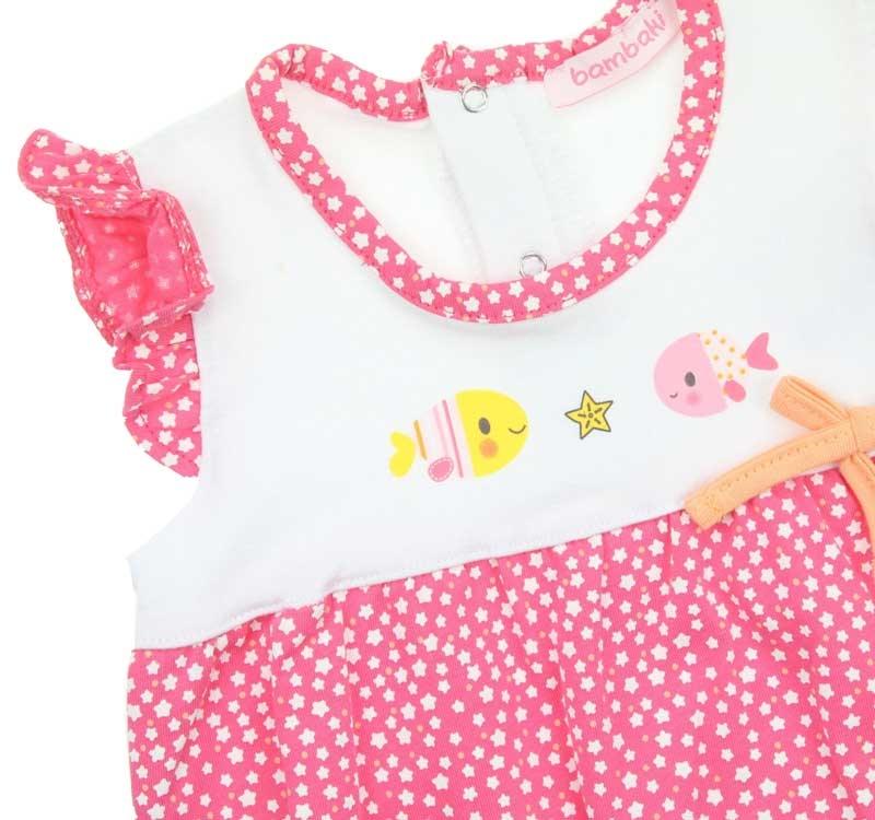 Bambaki Kız Bebek Fırfırlı Tulum 013-01110-021