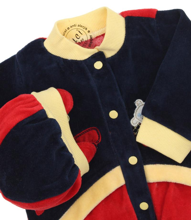 Elci Baby Unisex Kadife Bebek Tulum (3 - 9 ay) 019-329-002