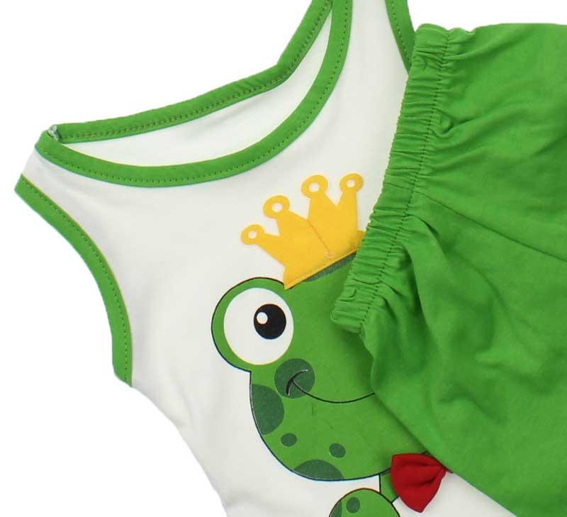 Erkek Bebek Kurbağa lı Şortlu Takım 045-8146-017