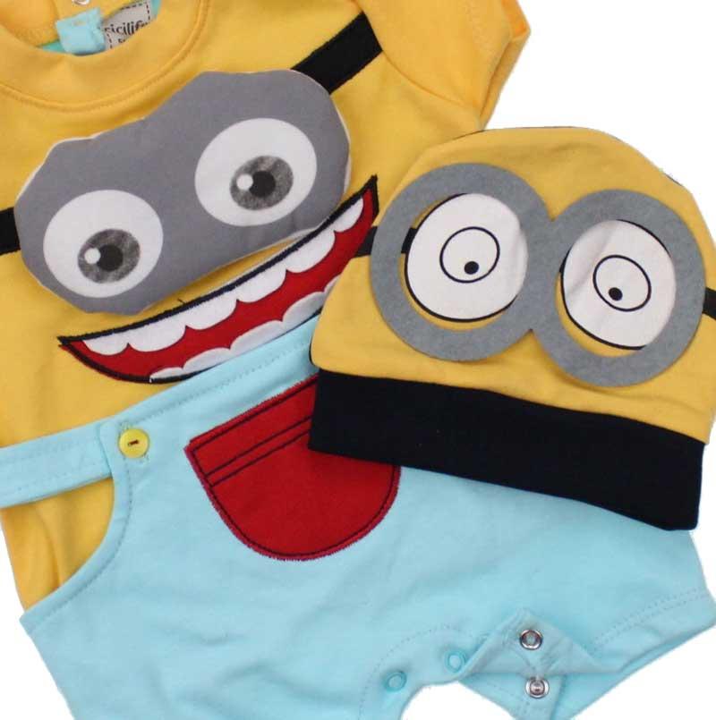 Erkek Bebek Minyonlar Kısa Tulum 035-1169-040
