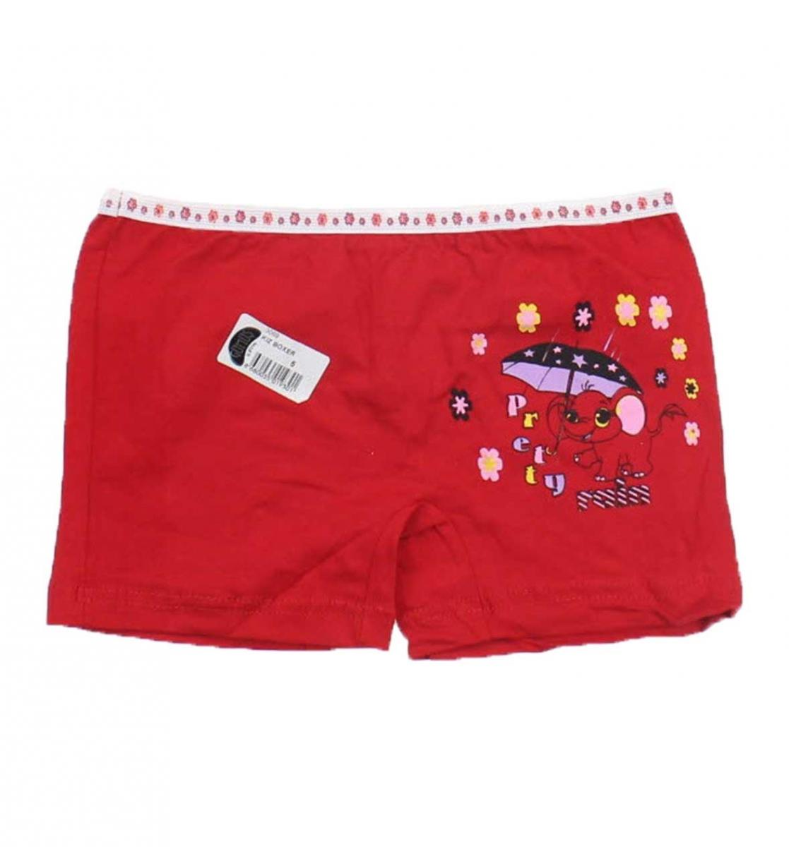 Gümüş İç Giyim 6′lı Kız Çocuk Boxer 040-3069-002