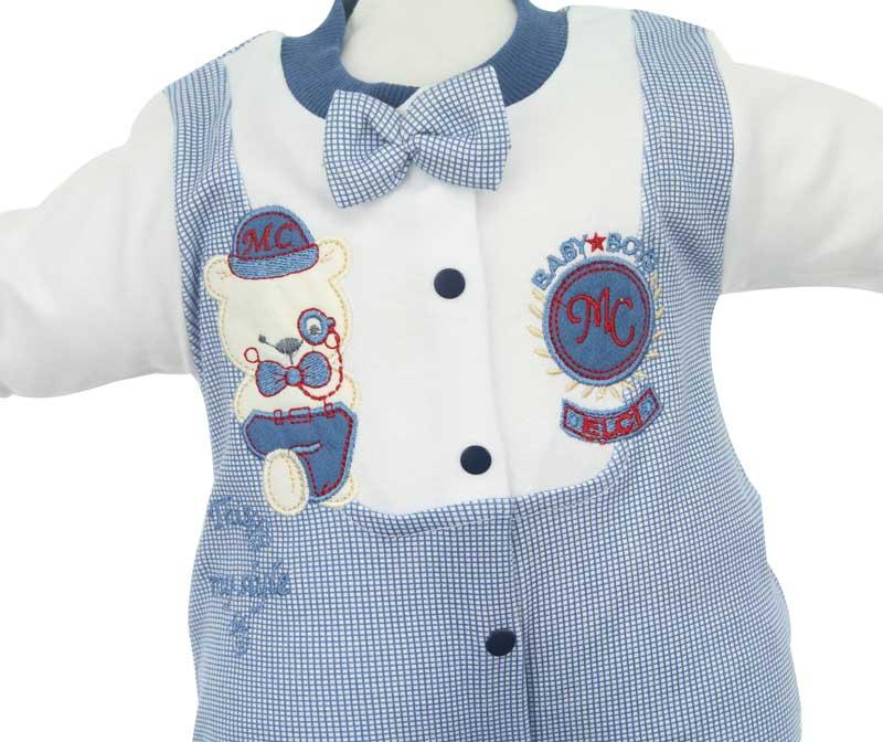 Modakids Erkek Bebek Papyonlu Tulum 019-353-013