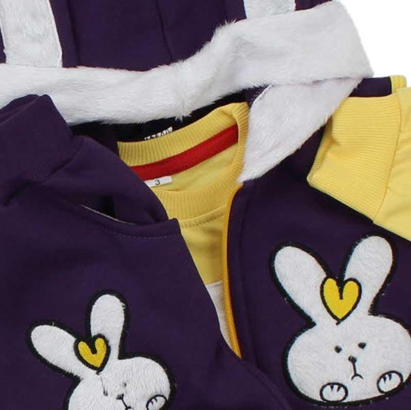 Modakids Kız Çocuk Tavşanlı 3 lü Eşofman Takım 041-134-025