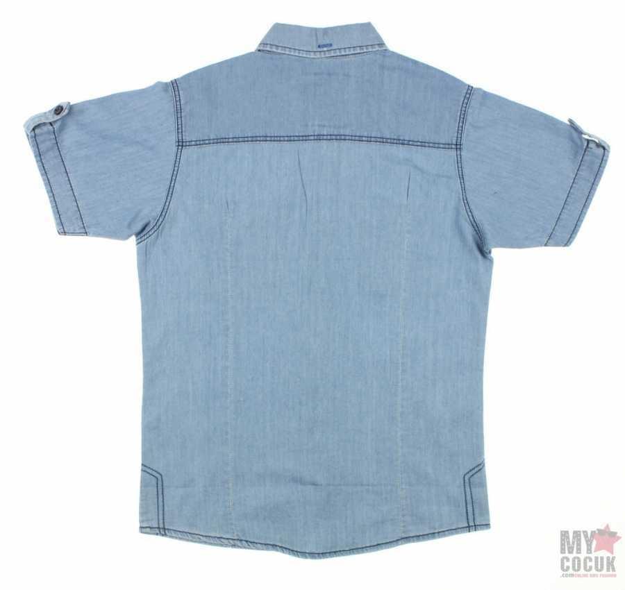 Nanica Erkek Çocuk Denım Kısa Kol Gömlek (4-8 Yaş)  0015111014