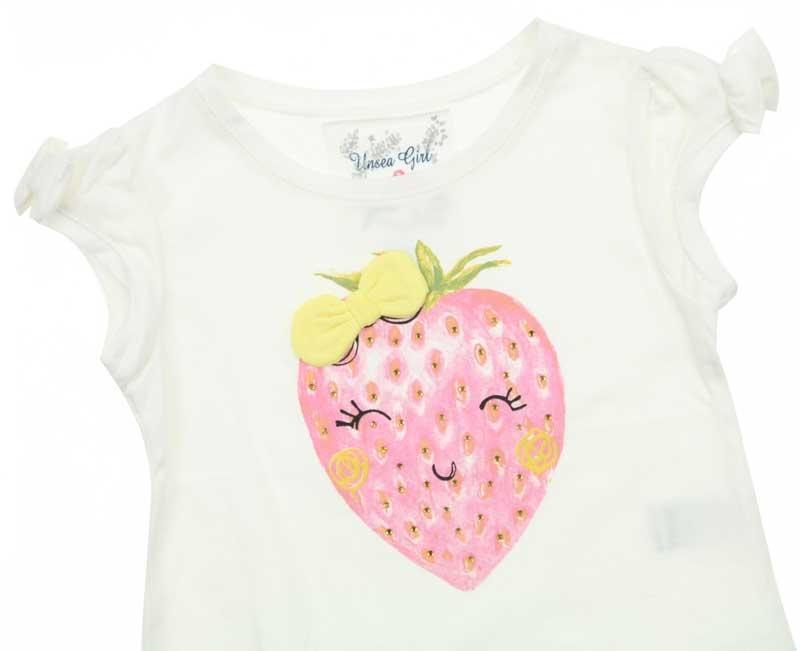 Nk Kids Kız Çocuk Çilekli Tshirt 002-32028-028