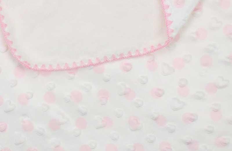 Ünlü Bebe Kız Bebek Puanlı Battaniye 019-2874-021