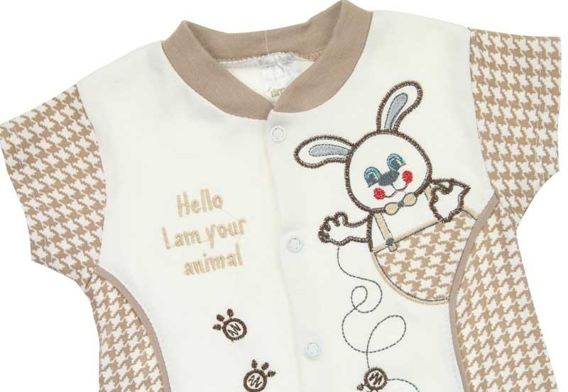 Rimababy Erkek Bebek Kısa Kol Tulum 034-188-033