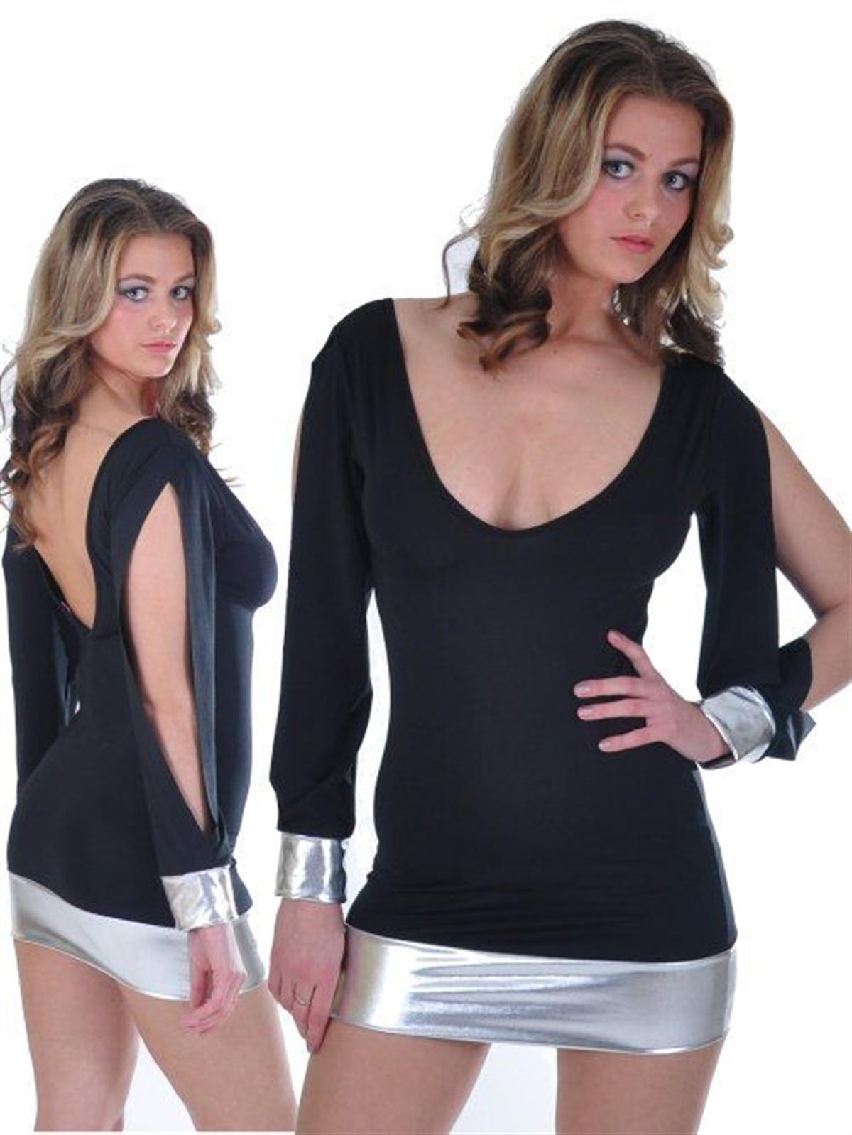 Terry Pau TP112117 Açık Kollu Mini Elbise