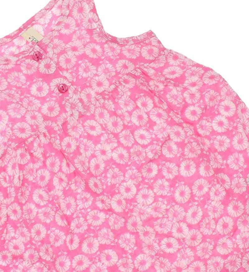 Wonder Kids Kız Bebek Çiçekli Elbise 010-1309-021