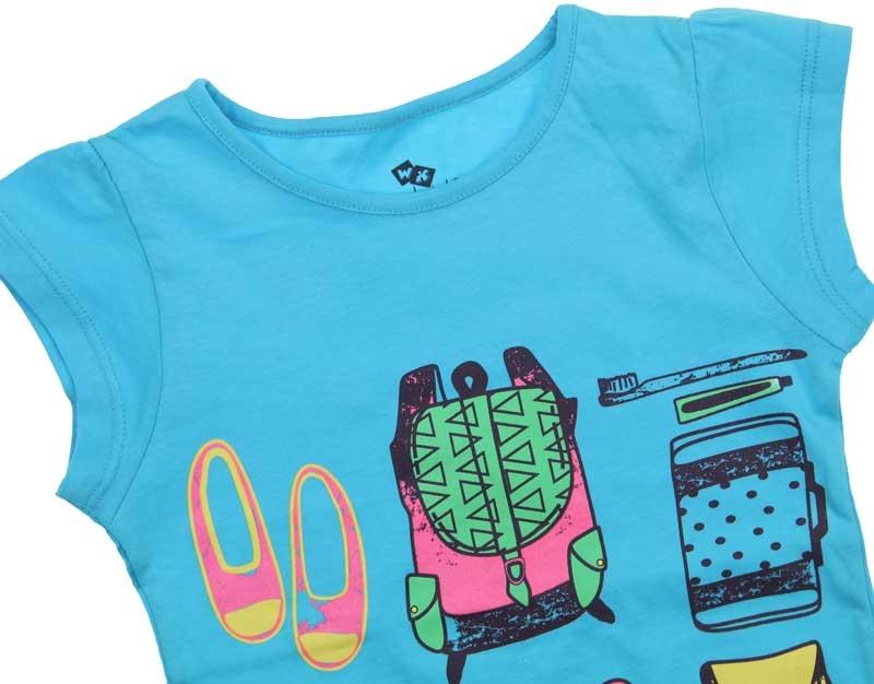 Wonder Kids Kız Çocuk Kısa Kol Tshirt 010-3102-037